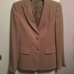 Taupe Womens Button Up Blazer